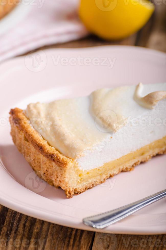 tarta de queso de limón delicioso foto