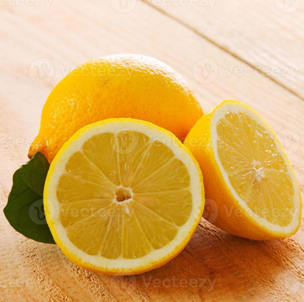 Fresh lemon isolated. photo