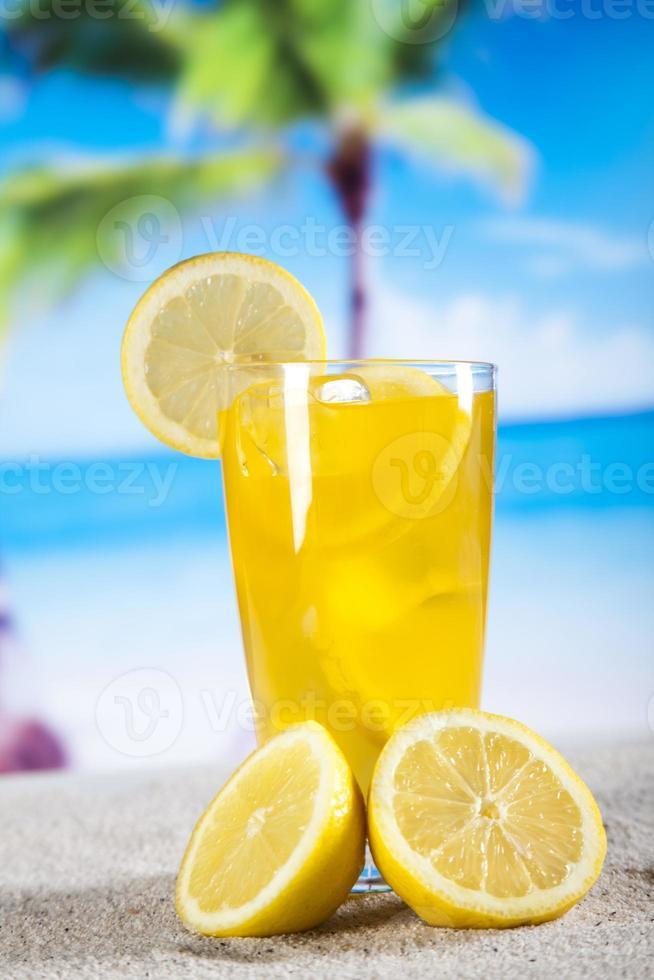 Lemon cocktail drink photo