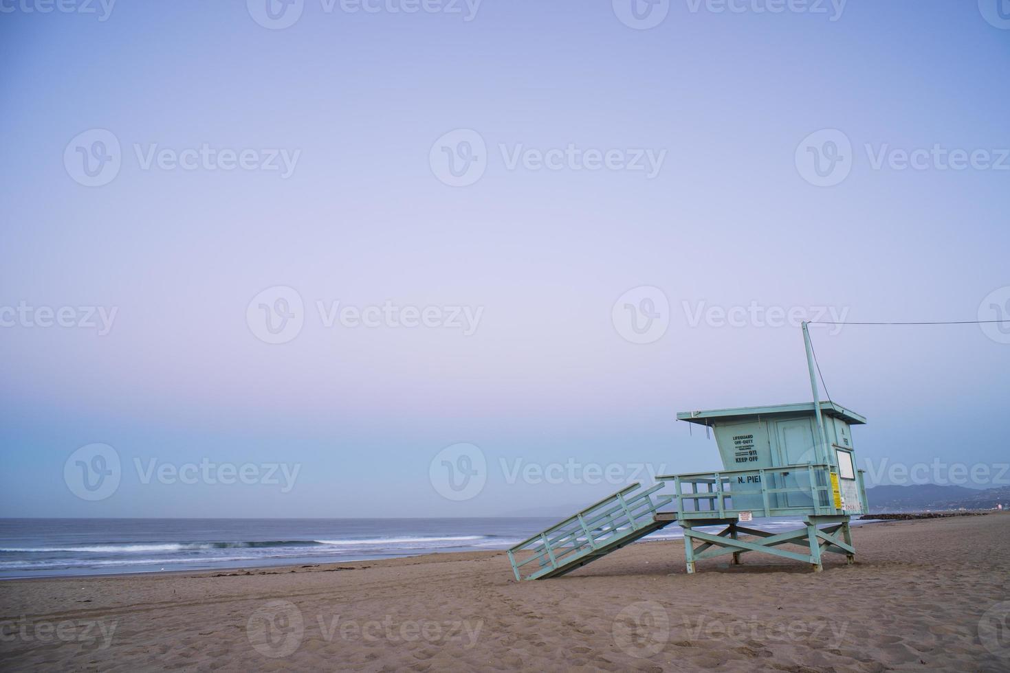 Choza de salvavidas de playa de Venecia 2 foto