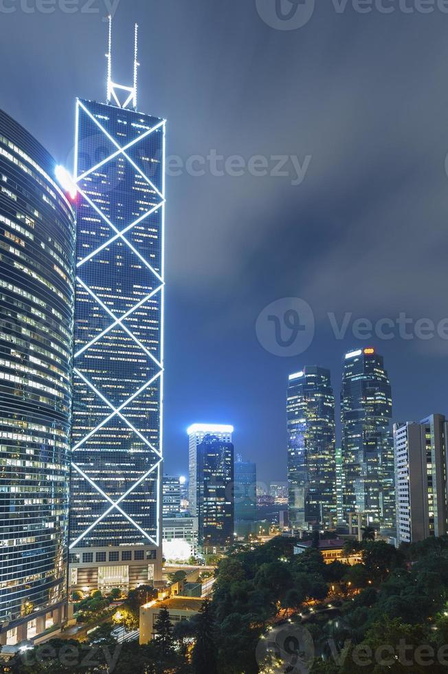 Modern office buildings in Hong Kong photo