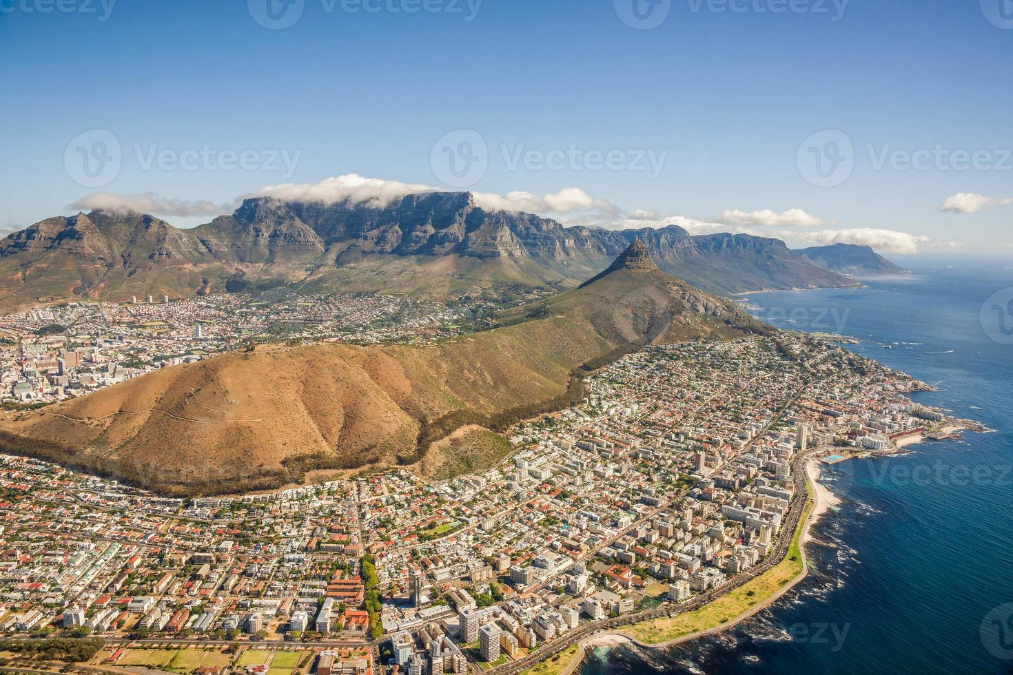 Aerial shot of Table Mountain photo