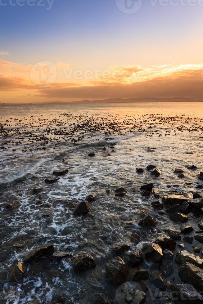 paisaje marino y ola en ciudad del cabo foto
