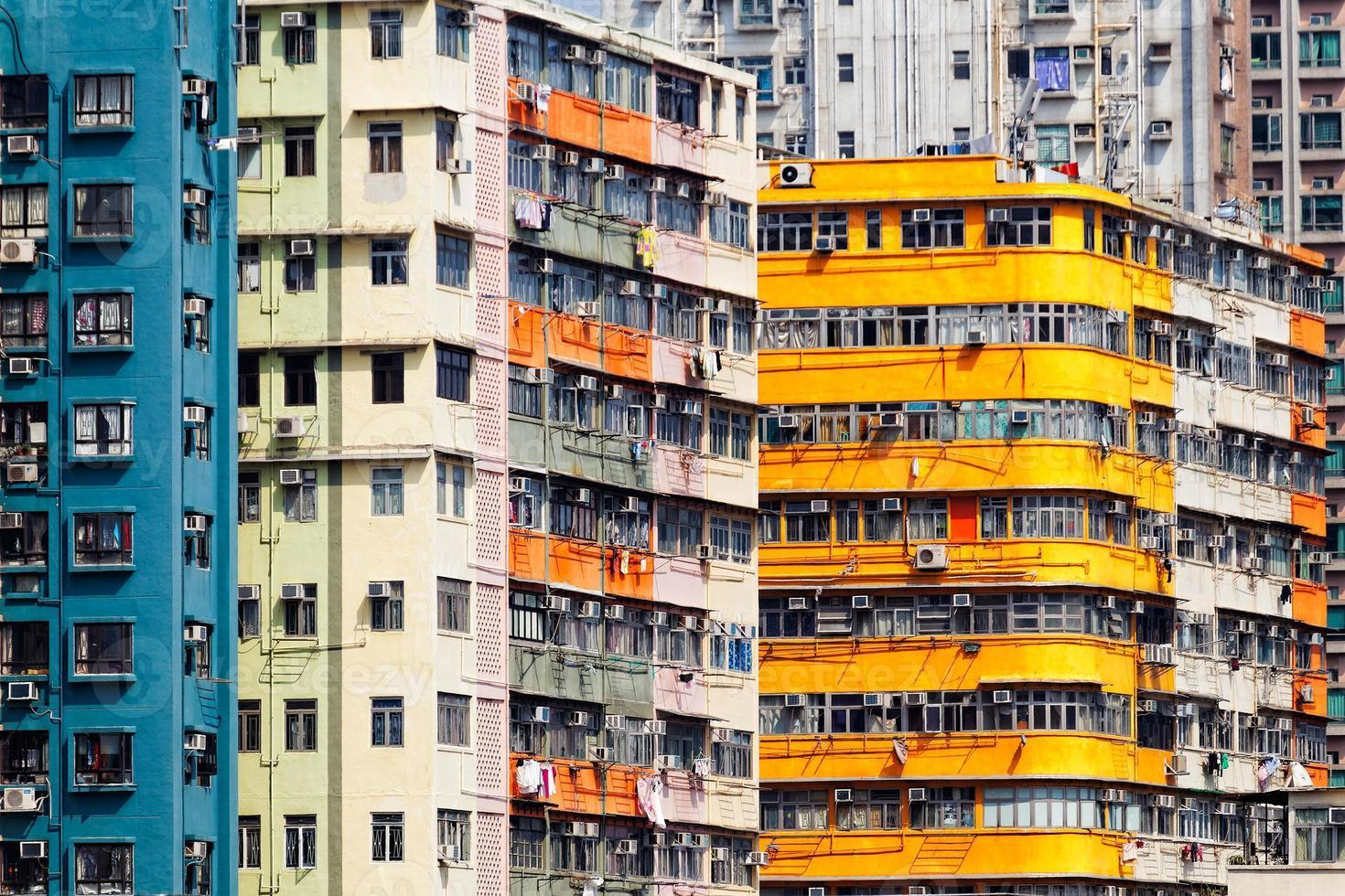 Old apartments in Hong Kong photo