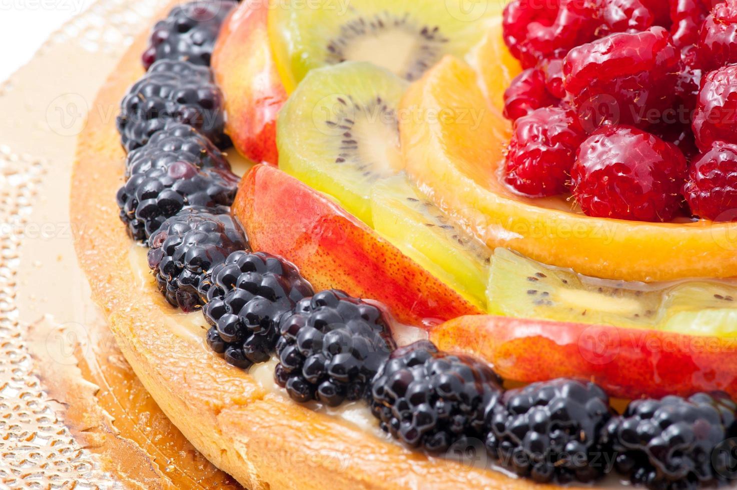 pastel de fruta fresca foto