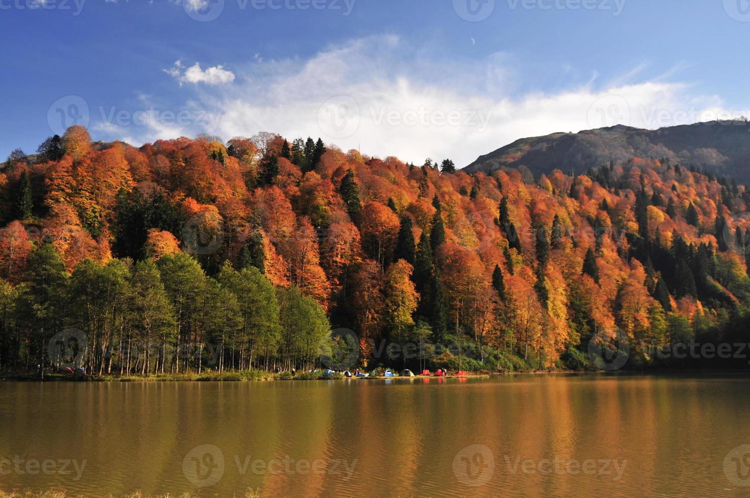 camping de otoño foto