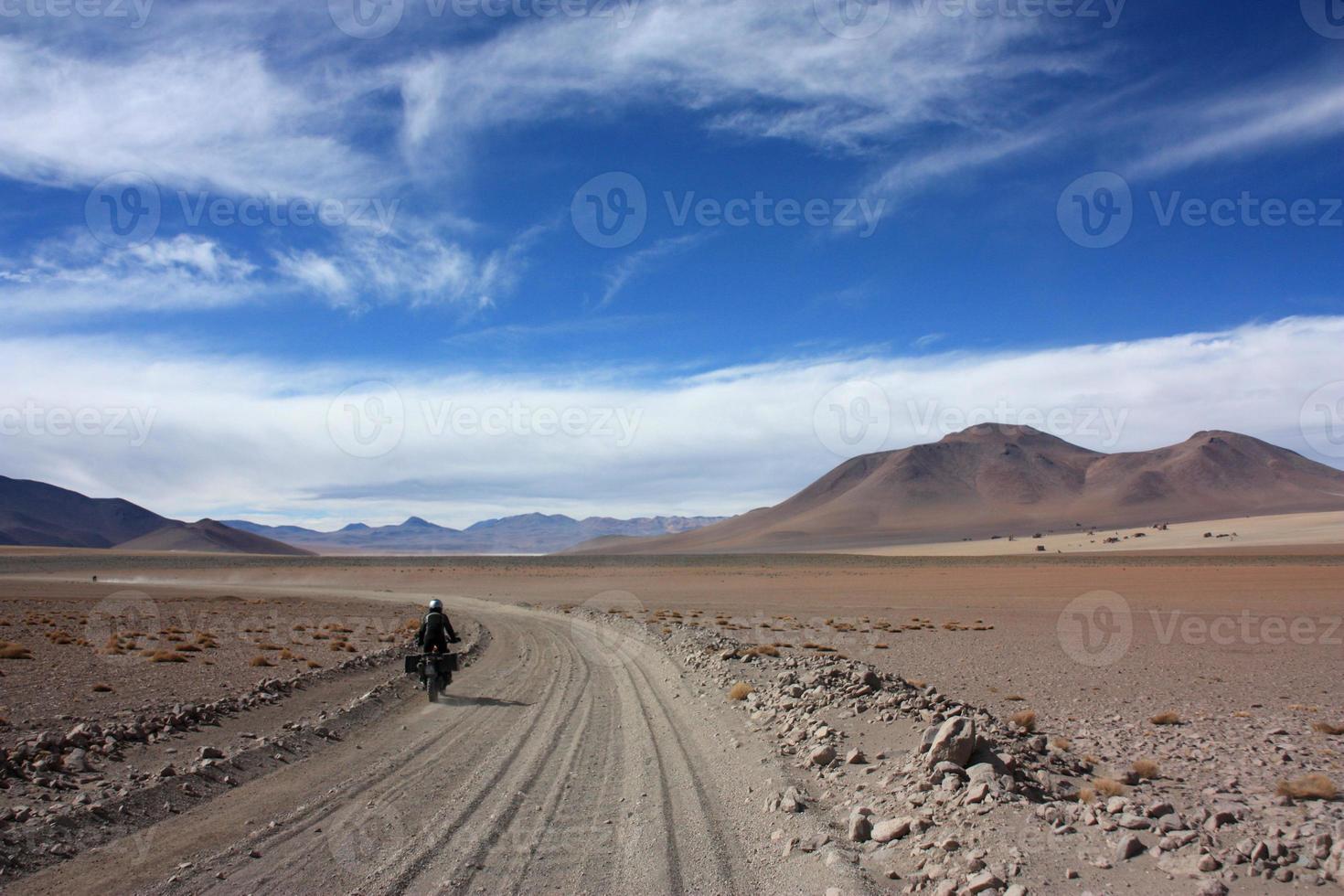Motorbike on offroad track photo