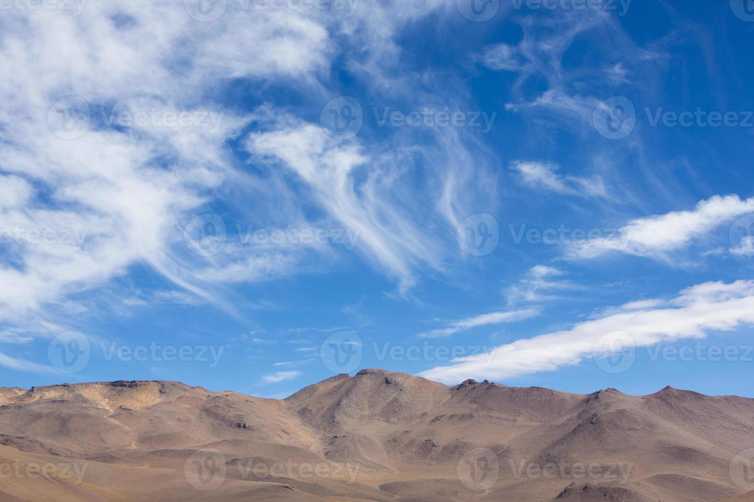 Atacama Mountain with blue sky in Eduardo Avaroa Park photo