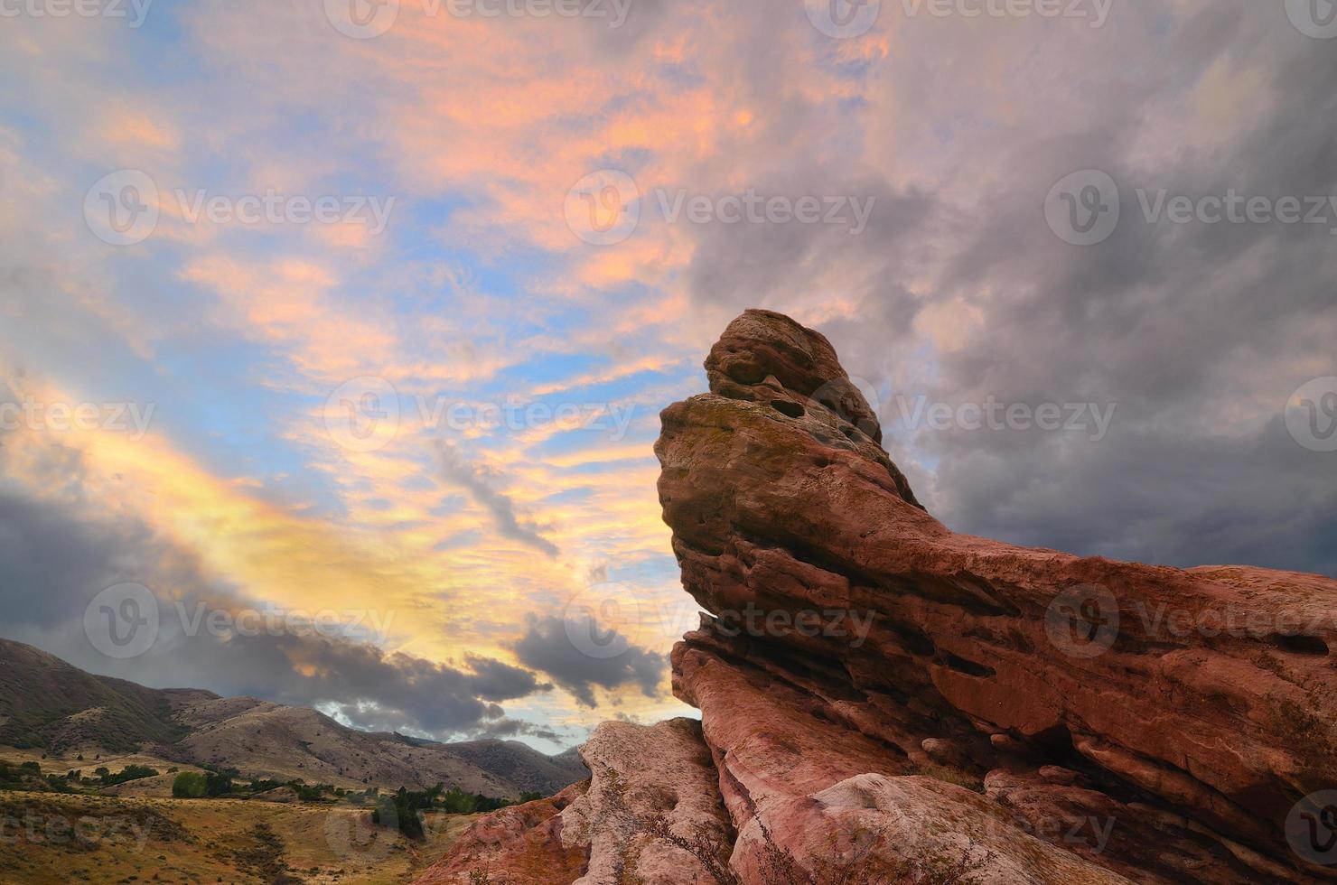 puesta de sol del valle sur foto