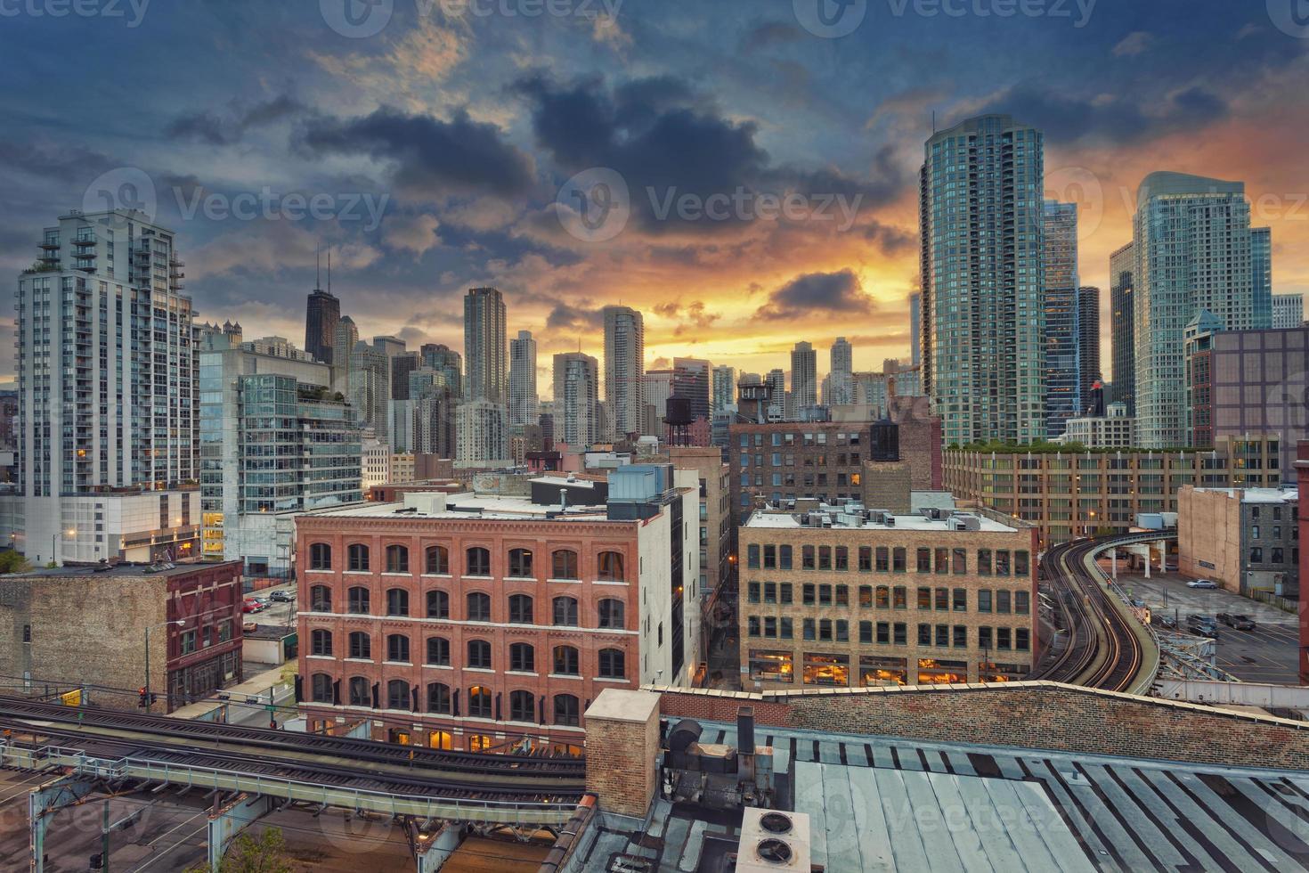 Chicago centro de la ciudad. foto