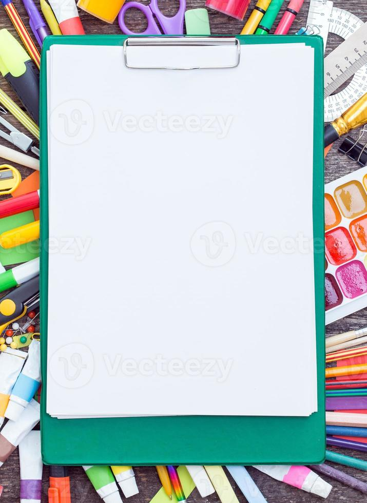 Tablet  and items for children's creativity photo