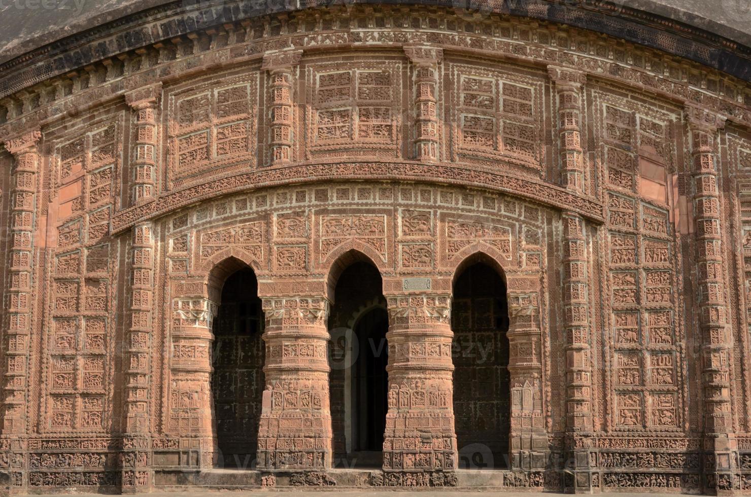 Arches of  temple - Bishnupur, India photo
