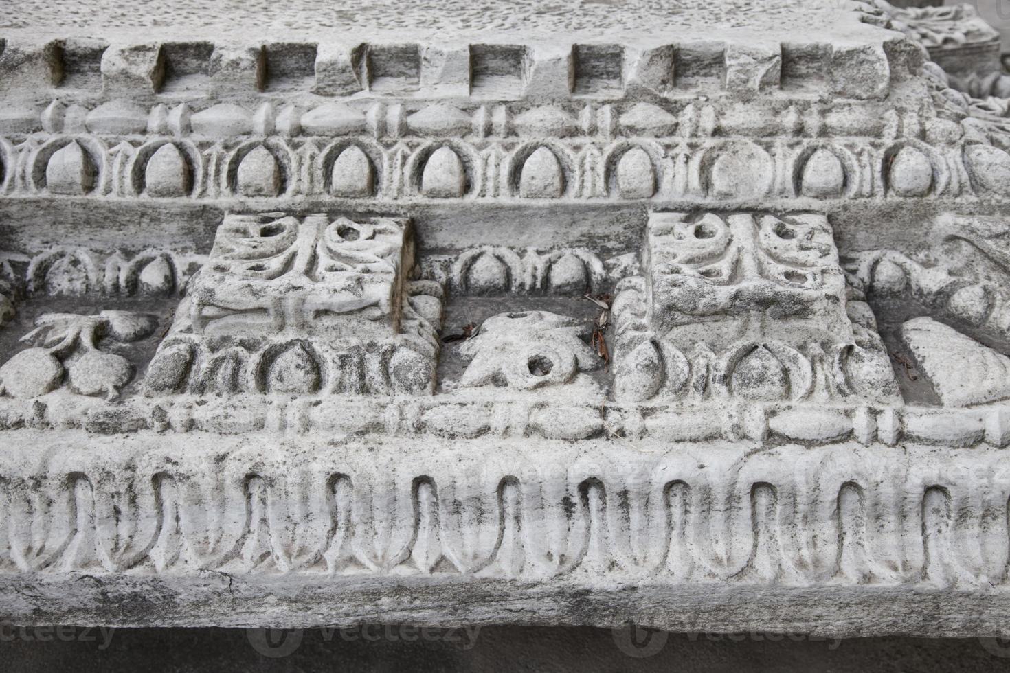 Pediment of Byzantine Church photo