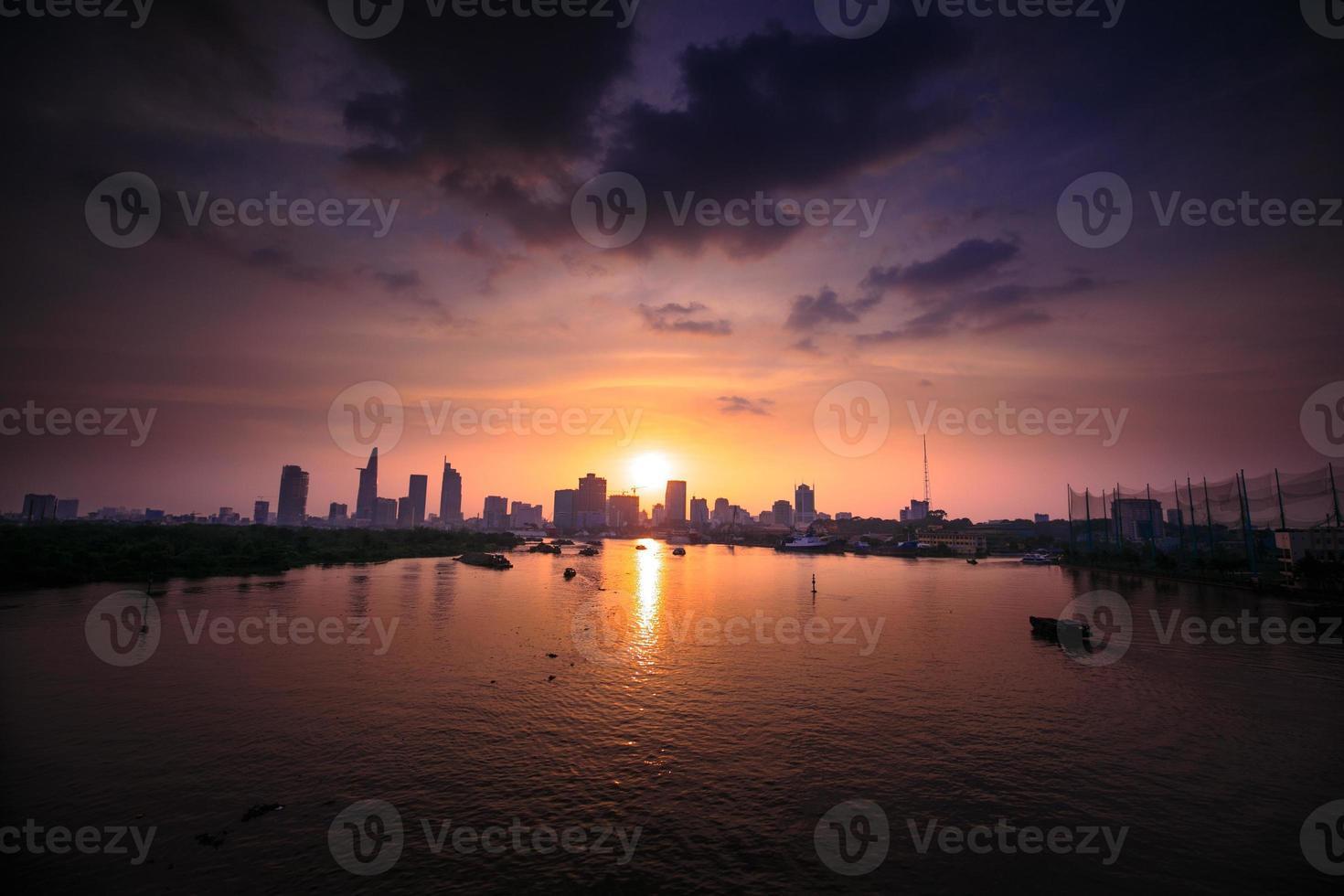 Sunset on the Saigon River photo