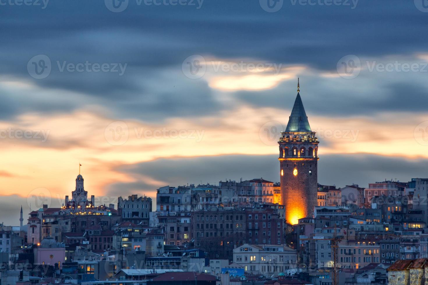 torre de galata foto