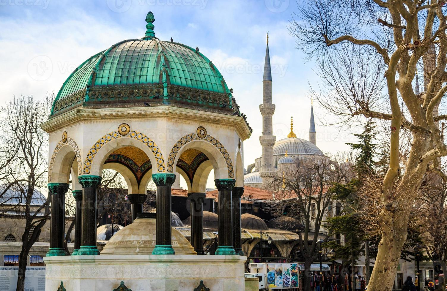 Old monument in Istanbul. photo