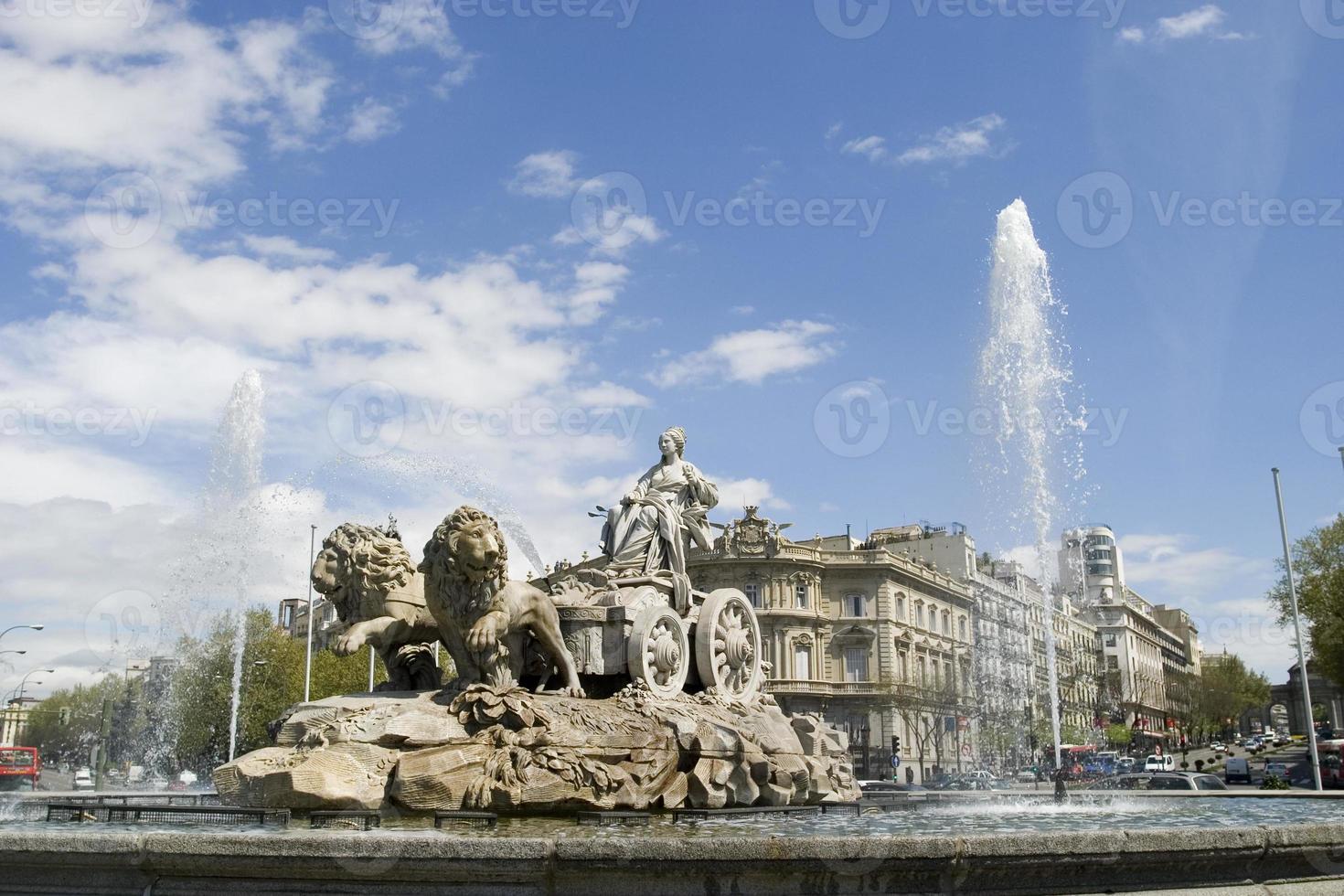 Cibeles Fountain at 20 degrees angle photo