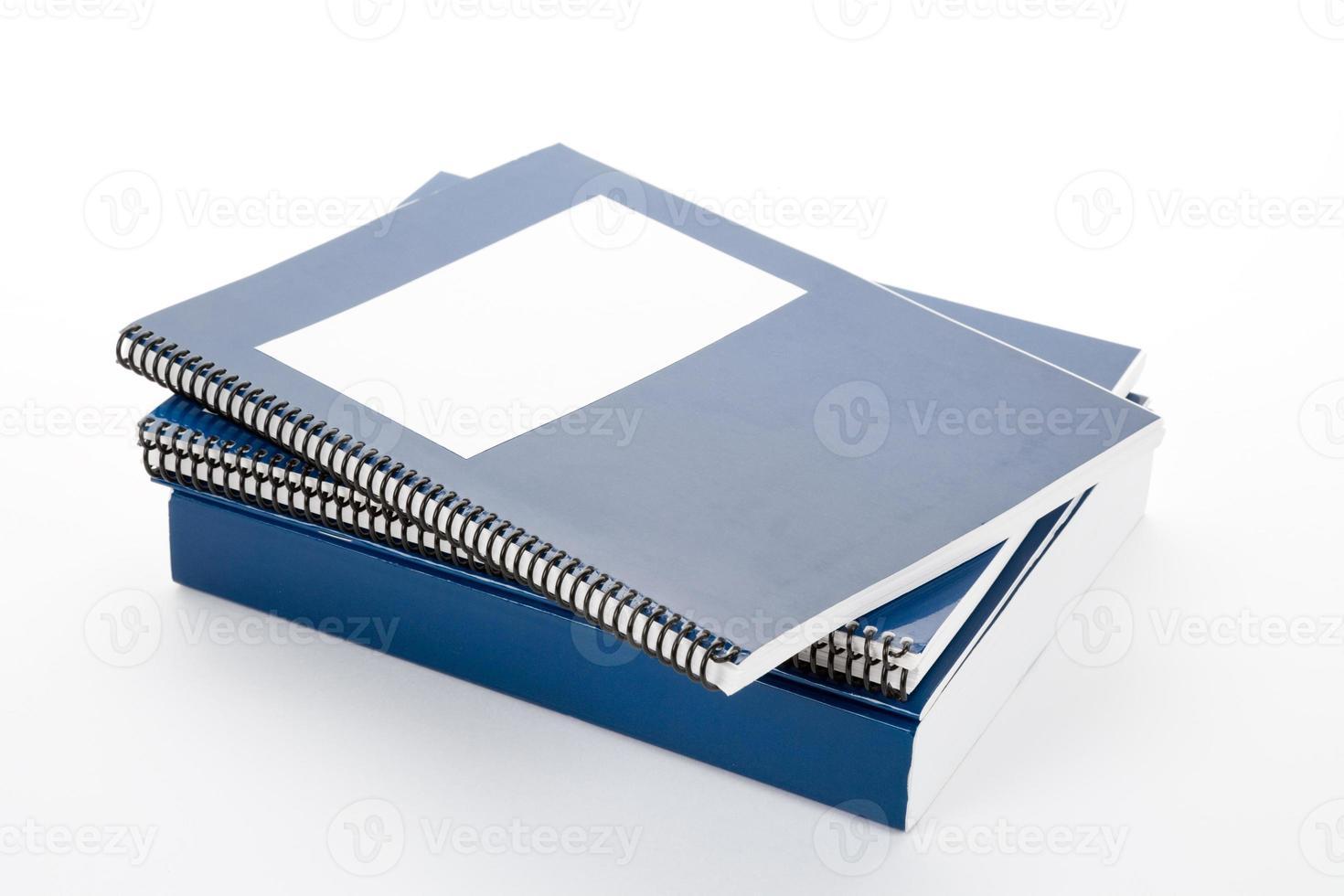 libro de texto de la escuela azul foto