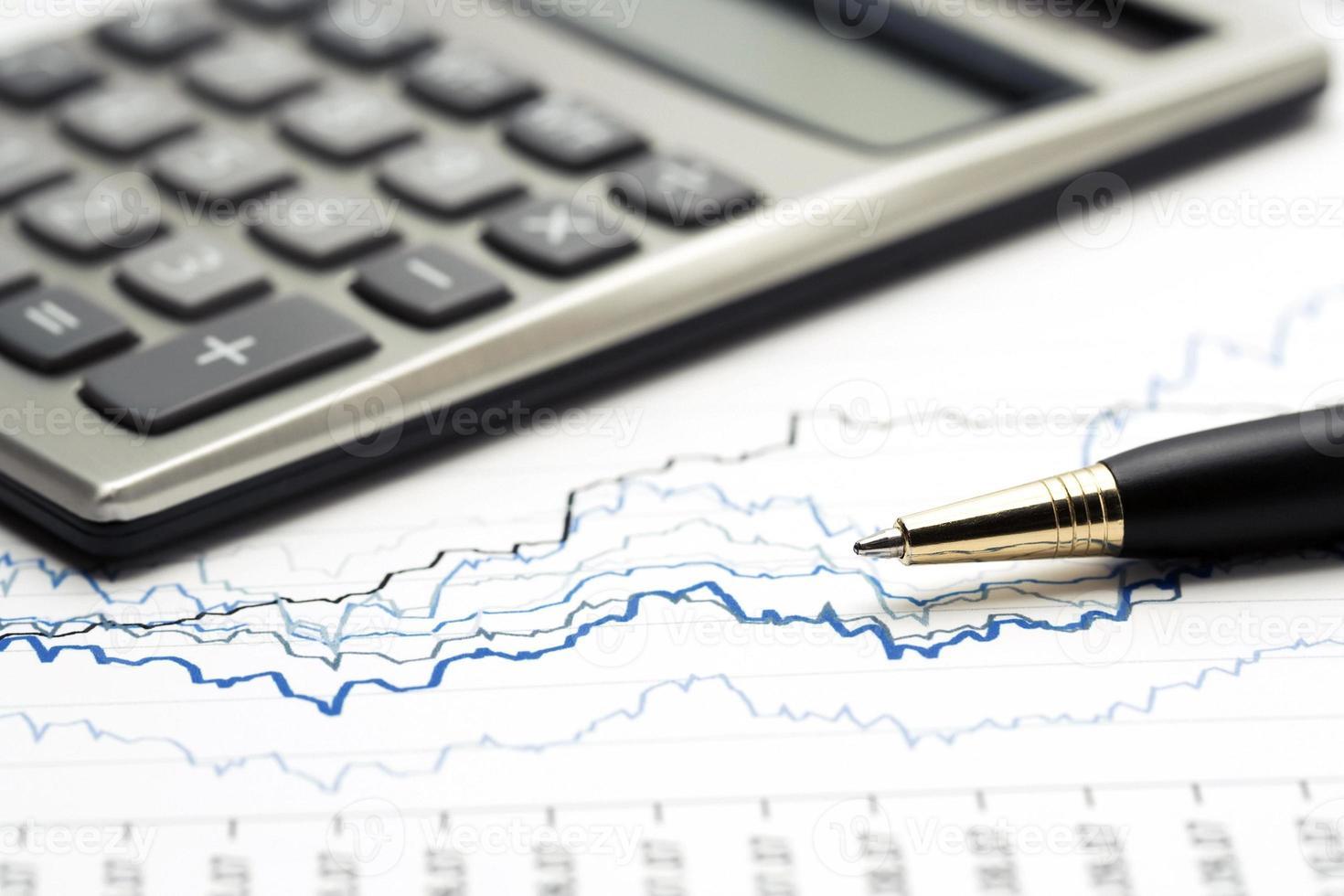 gráficos del mercado de valores contabilidad financiera foto