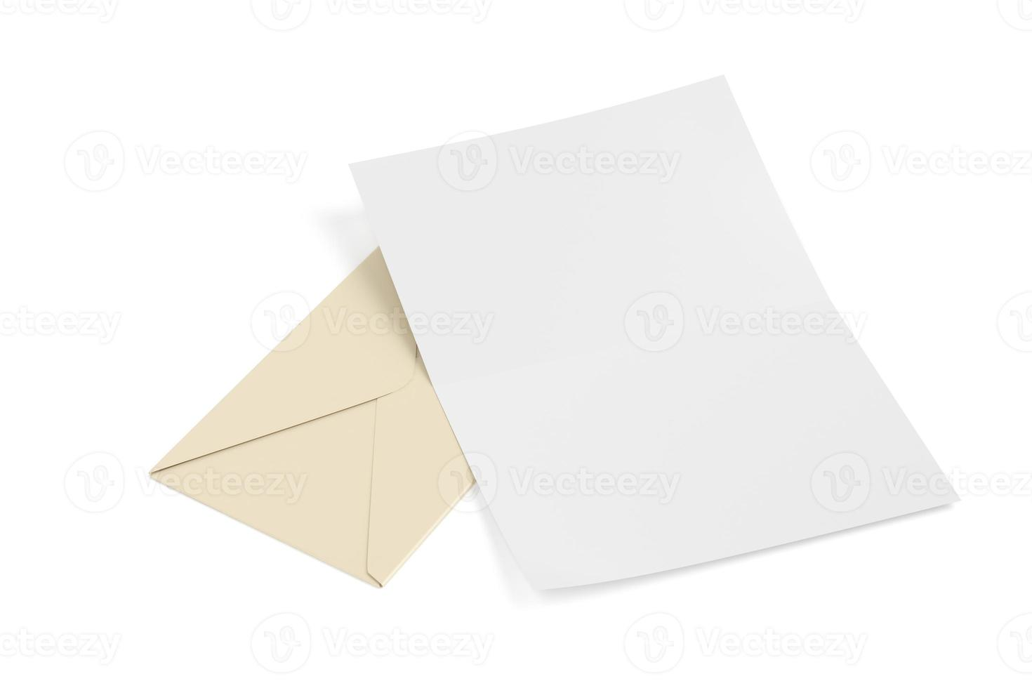 Envelope and blank paper photo
