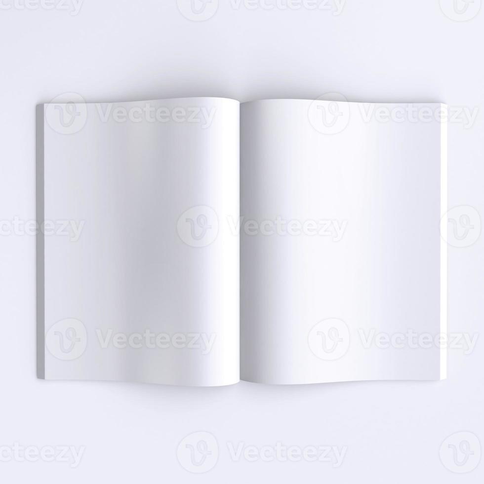 plantillas de páginas en blanco de un diario o libros abiertos. foto