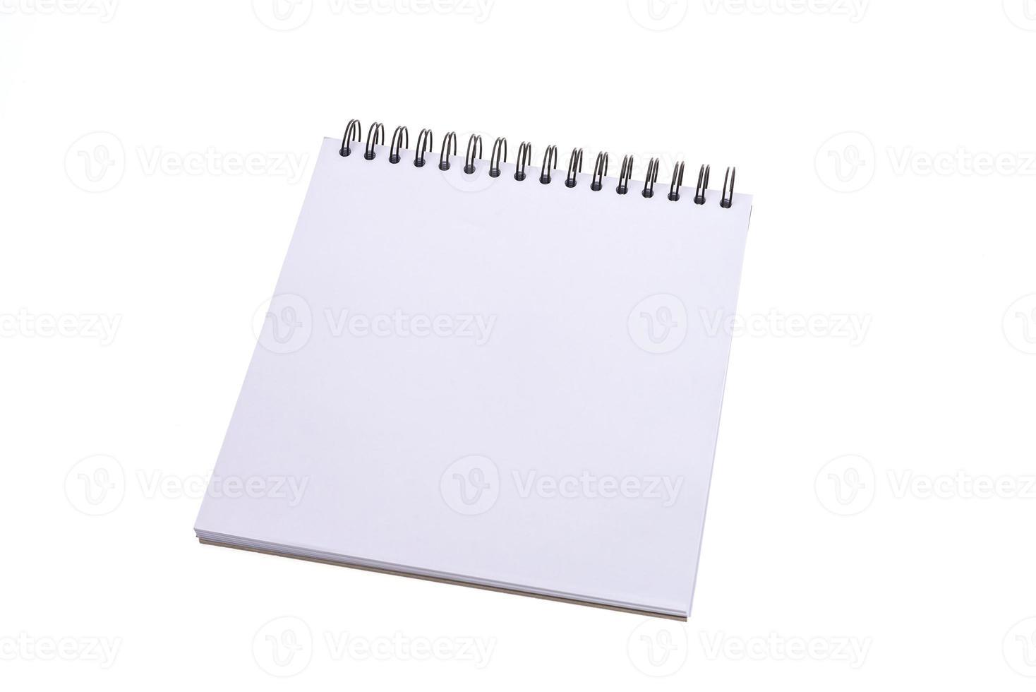 cuaderno en blanco vacío foto