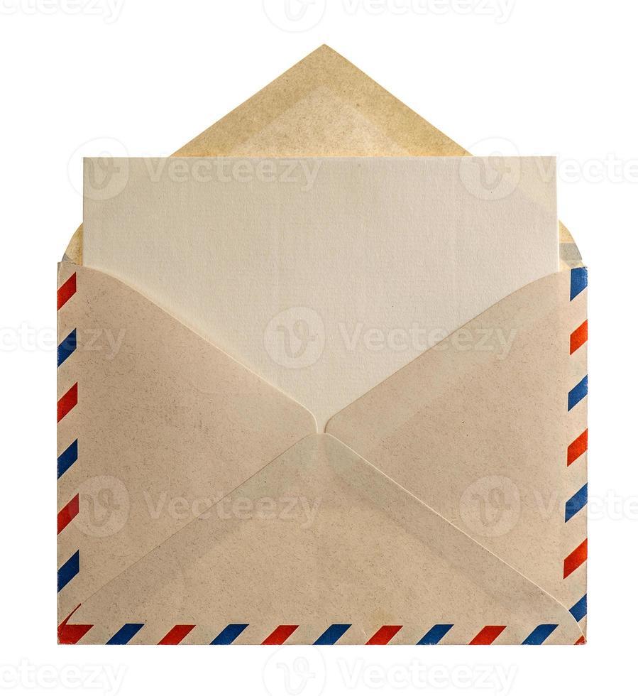 carta del sobre del correo aéreo del estilo retro foto