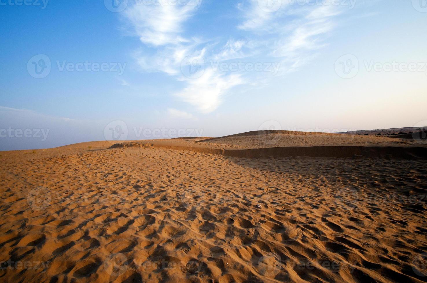 Desert , sand dunes at sunset photo
