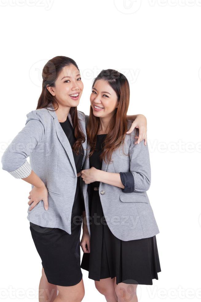 portret mooie vrouwelijke ondernemers glimlachen foto