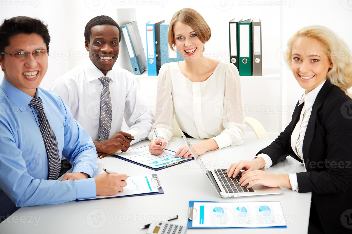Business people working together. photo