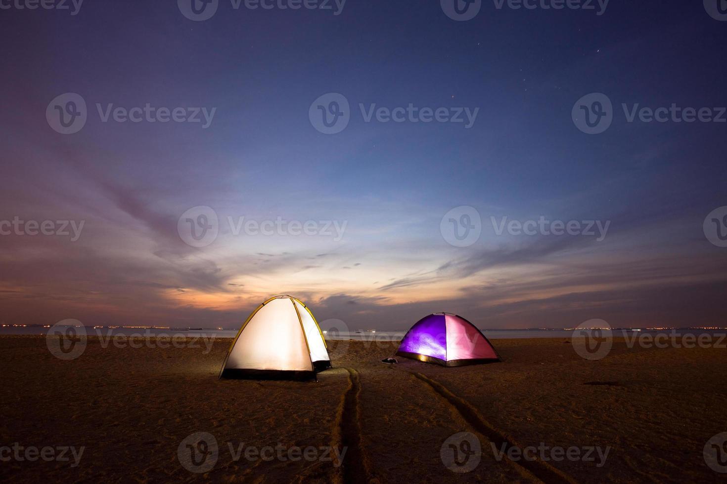 lent on beach photo