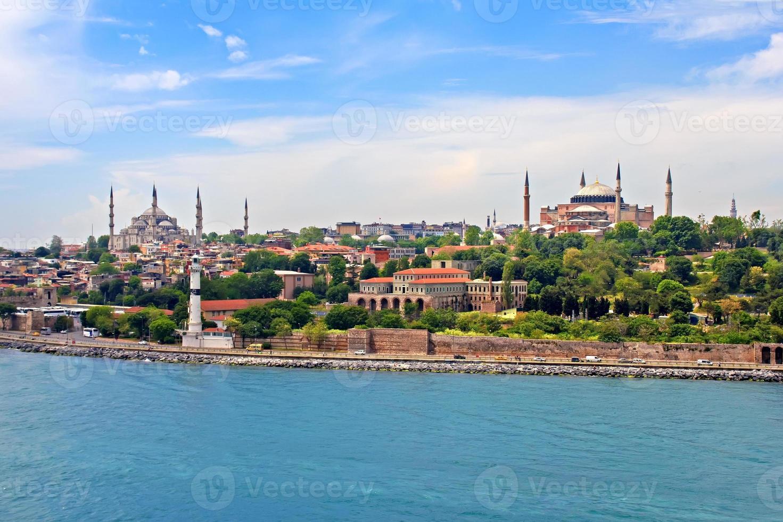 blauwe moskee, hagia sophia en istanbul foto