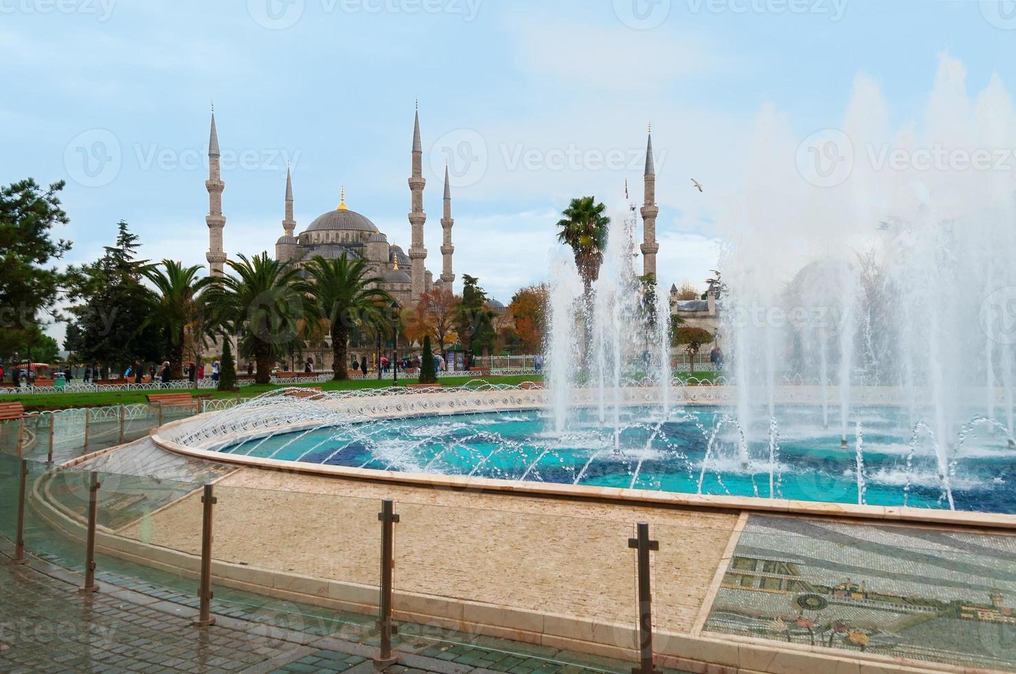 Blue Mosque in Istanbul, Sultanahmet Square photo