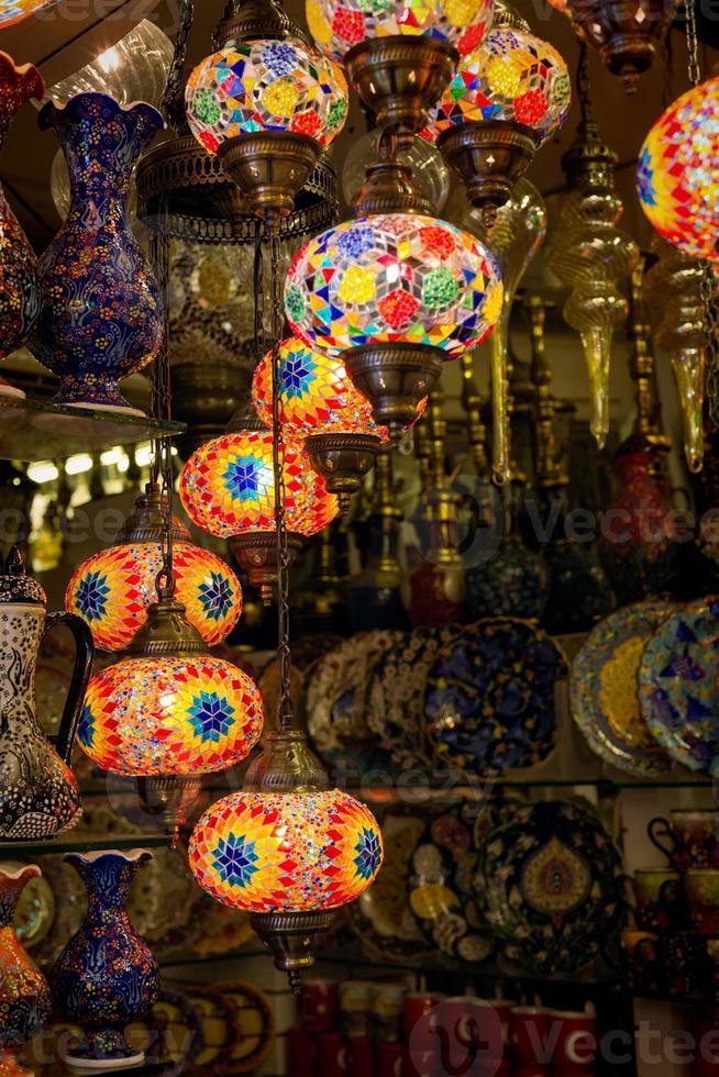 lámparas turcas tradicionales foto