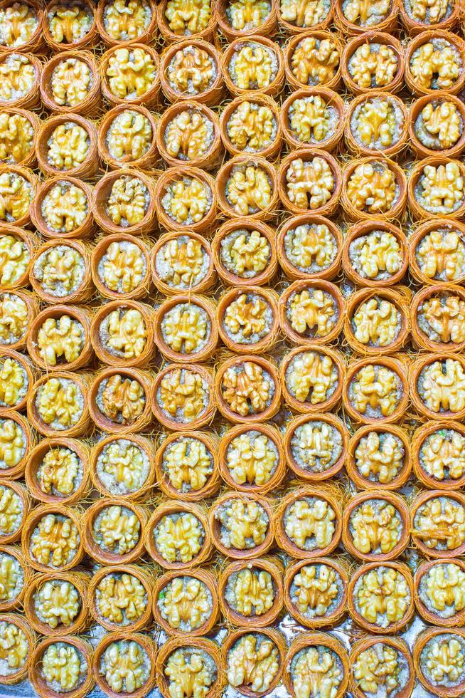 Traditional Turkish sweets on Egyptian bazaar of Istanbul photo