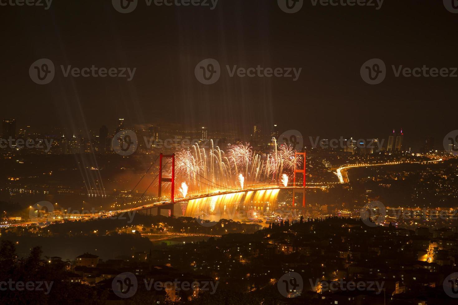 Bosphorus Bridge party photo