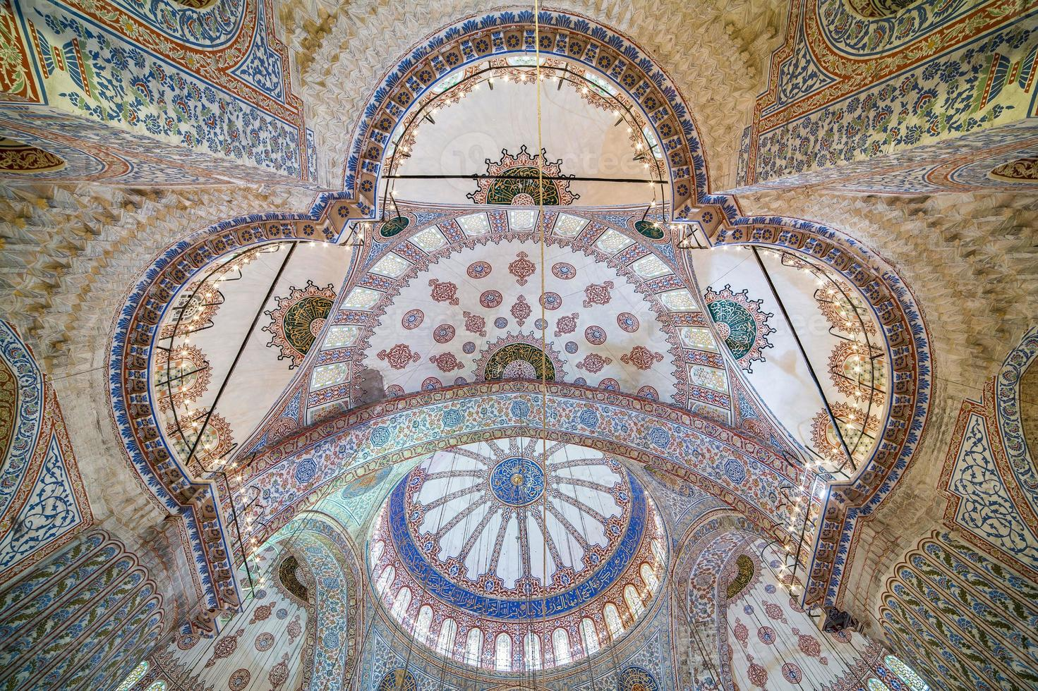 Dome of Blue Mosque in Istanbul photo