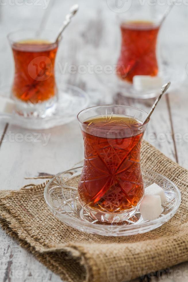 Traditional Turkish Tea photo