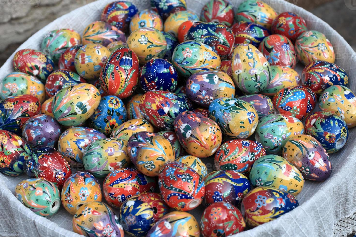Decorative eggs photo