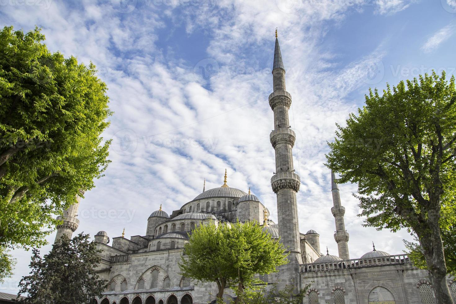 blue mosque in istanbul on a sunny day photo