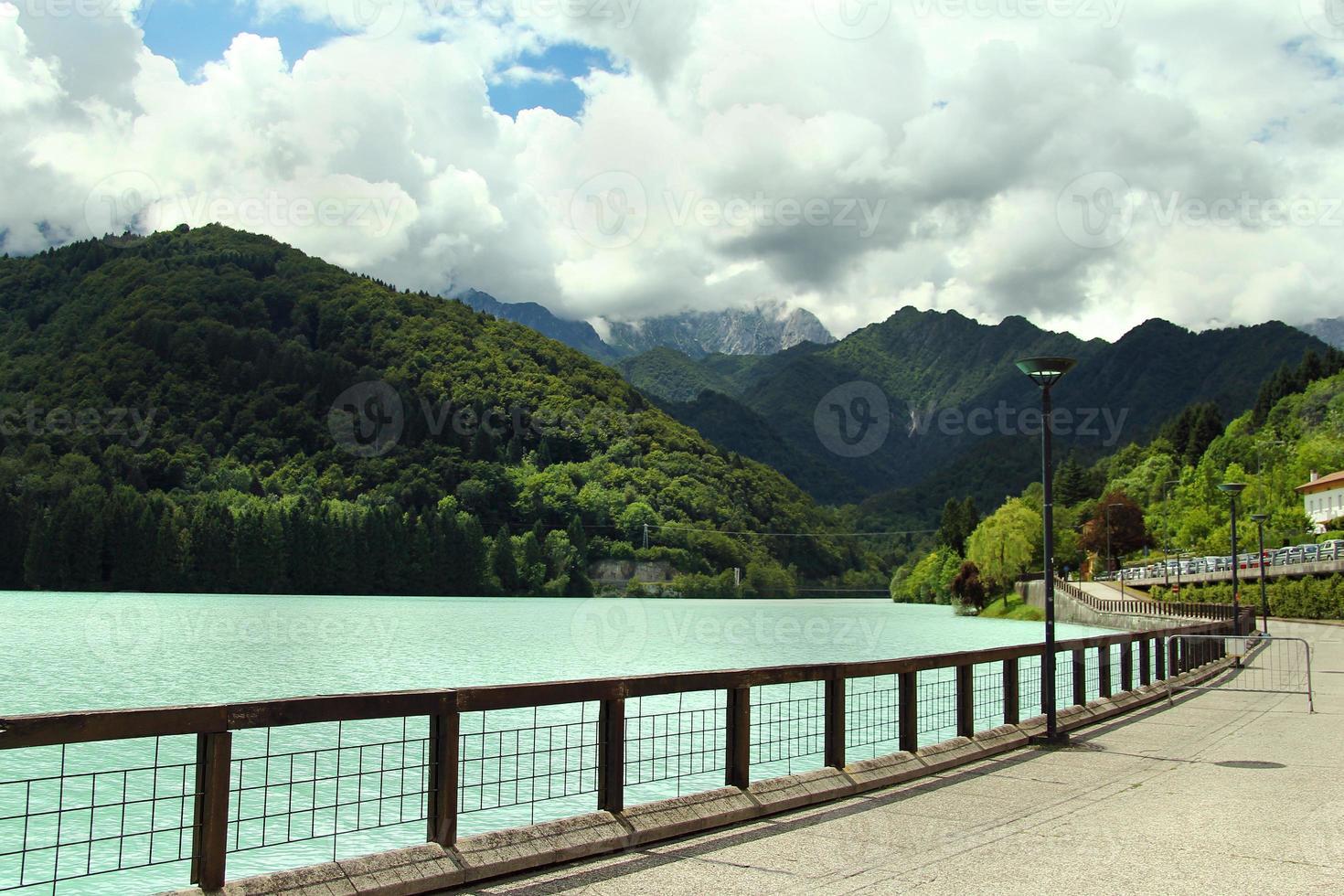 sulla riva del lago di Barcis photo