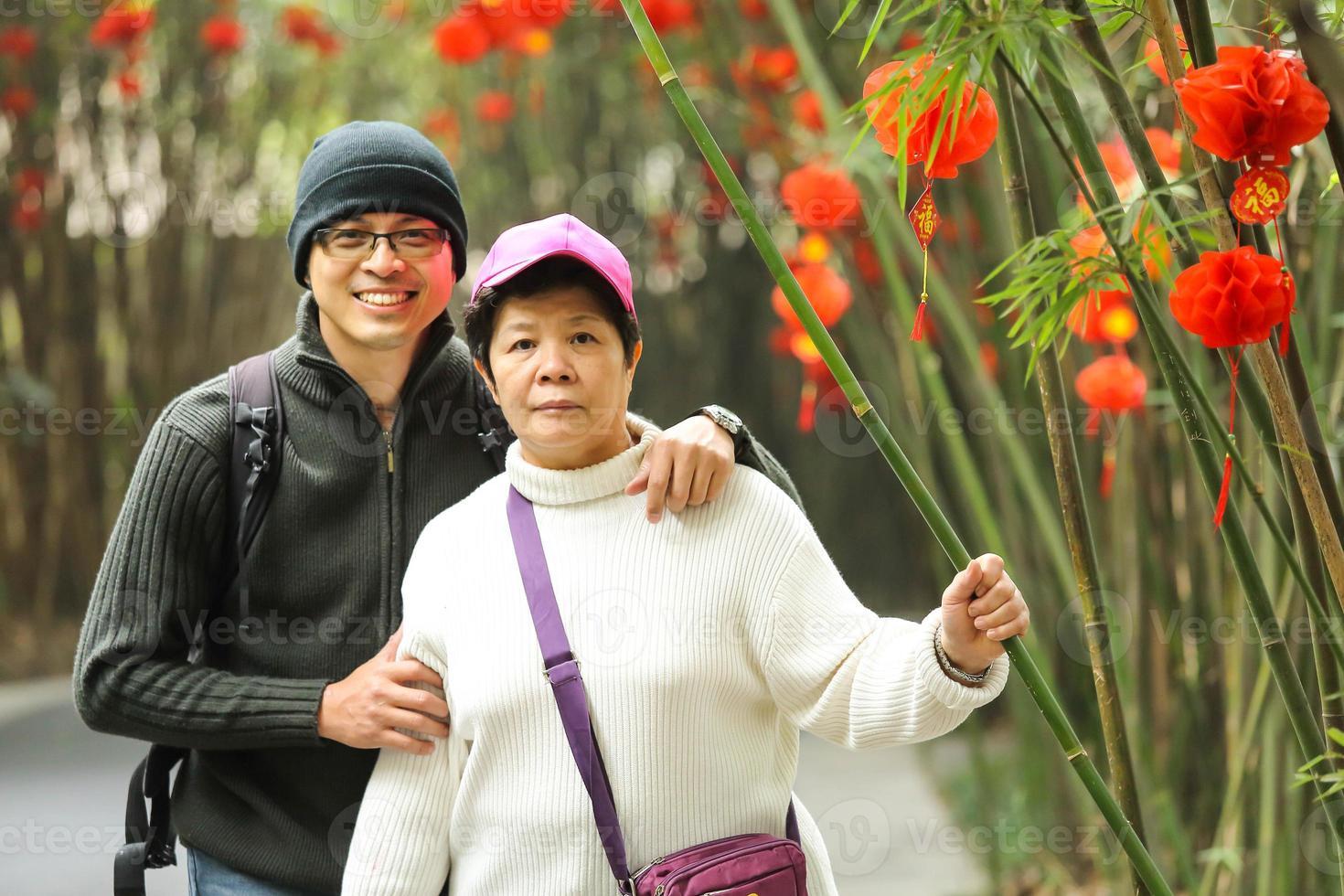 felicidad familia asiática foto