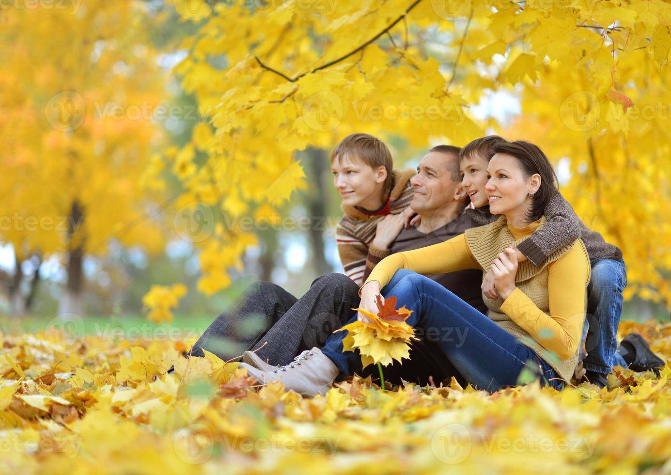 feliz hermosa familia foto