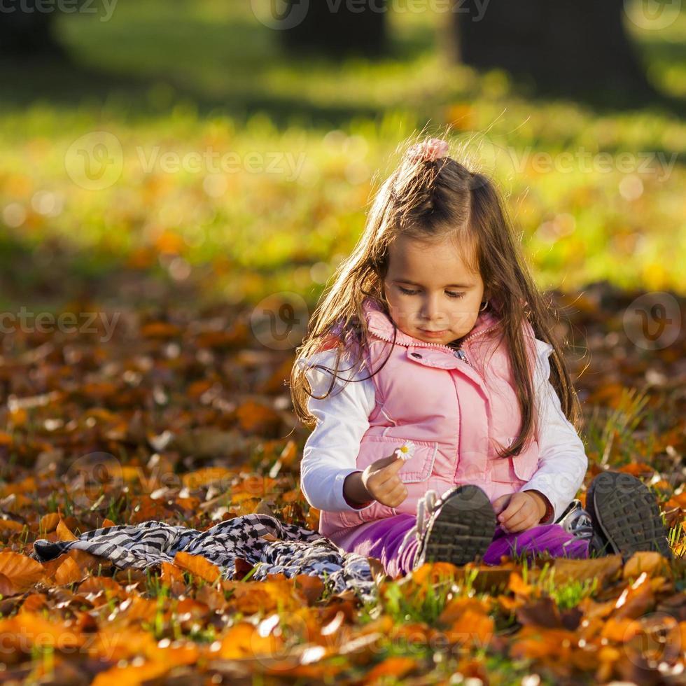 niño otoño retrato foto