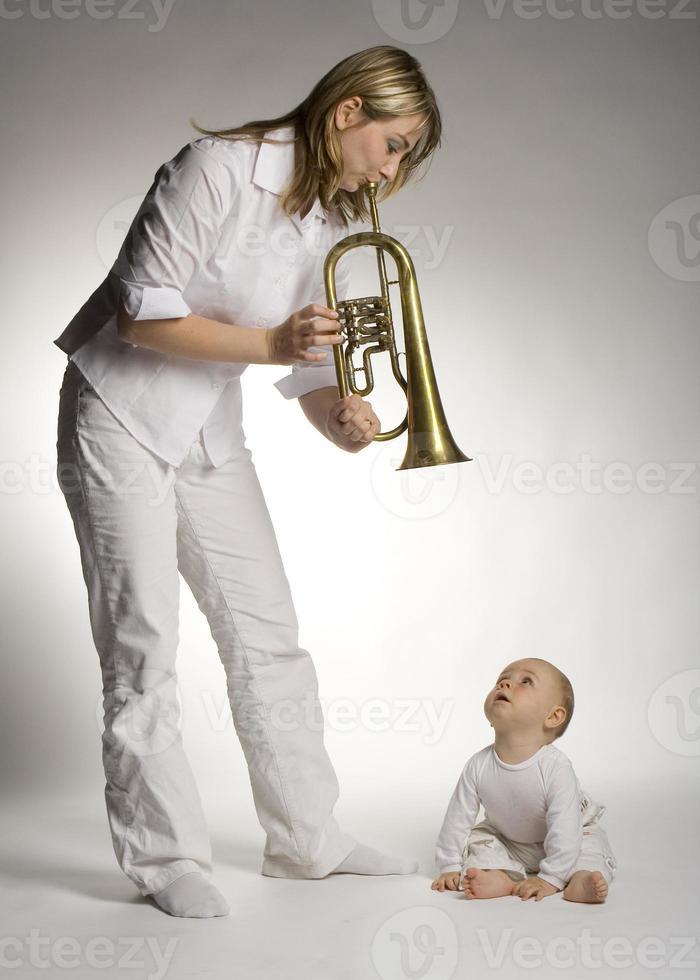 madre con hijo foto