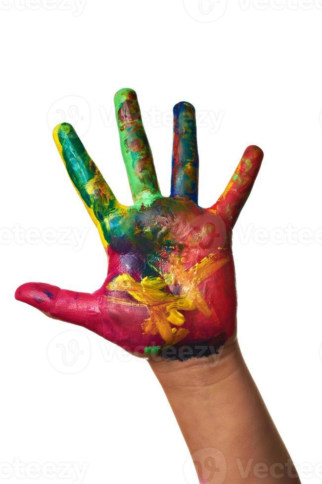 color pintado a mano infantil foto