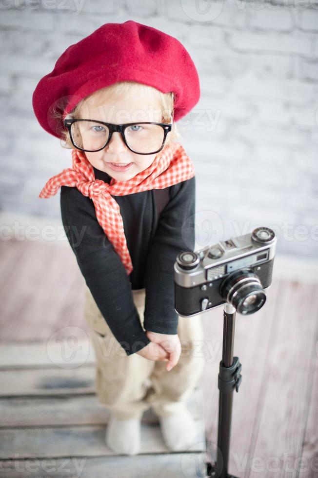 niño juega el fotógrafo foto