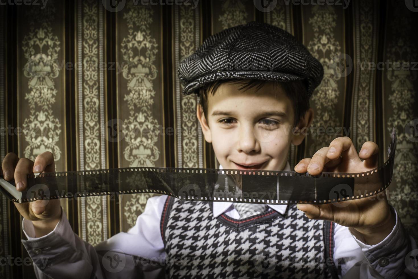 Child considered analog photographic film photo