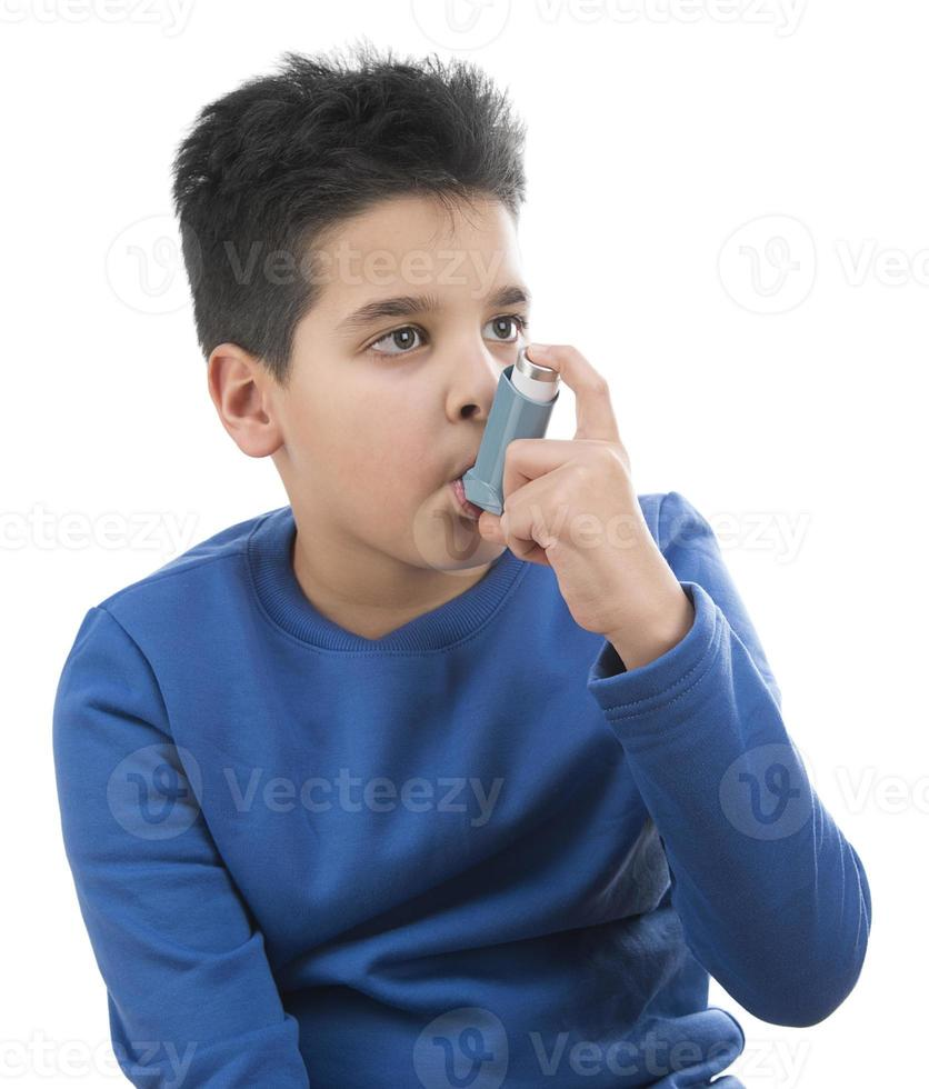 Retrato de niño con asma foto