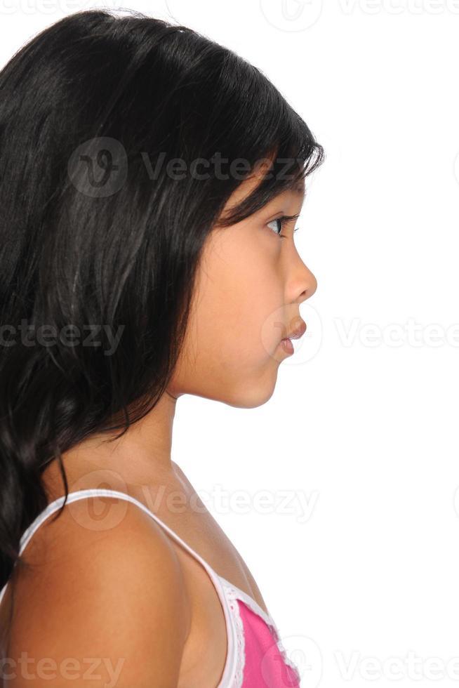 perfil de niño asicano foto